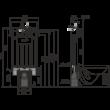 Alcaplast AM100/1000 műszaki rajz