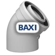 BAXI PPs könyök 45° d80/125mm