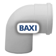 BAXI PPs könyök 90° d125mm