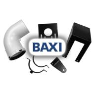 BAXI PPs kondenzációs könyök tartósínnel, 90° d80mm