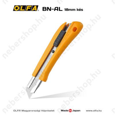 OLFA BN-AL - 18mm-es automata rögzítésű kés / sniccer