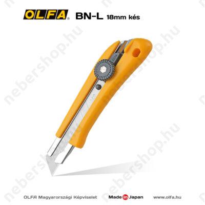 OLFA BN-L - 18mm-es csavaros rögzítésű kés / sniccer