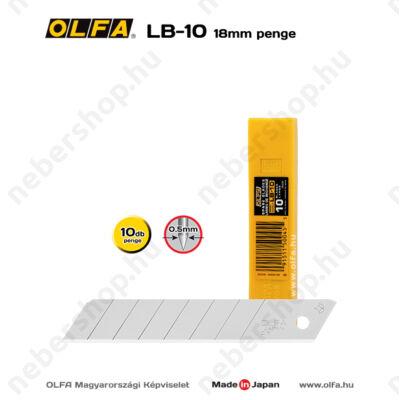OLFA LB-10 - 18mm-es standard tördelhető penge