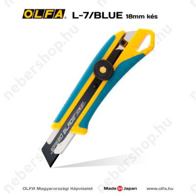 OLFA L-7/Blue - Limitált kiadású 18mm-es OLFA csavaros rögzítésű kés/sniccer